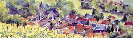 Water-color rendering of Avenay-Val-D'Or